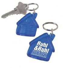 250 House Shaped Acrylic Key Chains Personalized with Your Company Name, Logo