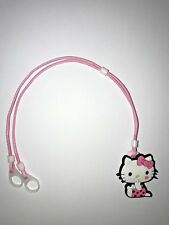 Hearing Aids safety Leash, RETAINER CORD CLIP - 2 Sided (Pink Kitty)
