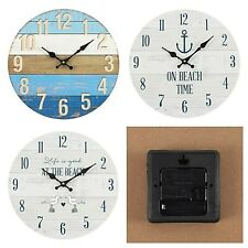 Nautical Beach Design Clocks in presentation box * 34 cm diameter * 3 Designs