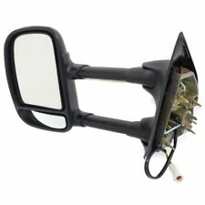 BLACK F250 F350 Super Duty 2007 - 1999 OE Power DRIVER SIDE Mirror Dual Glass