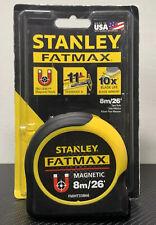 STANLEY FATMAX Measuring Tape 26 ft./8m Tru-Zero Magnetic Hook FMHT33866 *NEW*