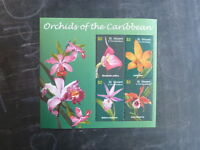 2003 St VINCENT & THE GRENADINES ORCHIDS OF THE CARIBBEAN 4 STAMP MINI SHEET MNH