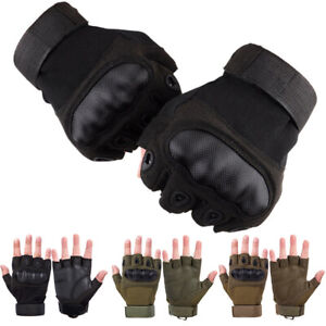 Tactical Hard Knuckle Half Finger Gloves Army Military Men Airsoft Combat Police
