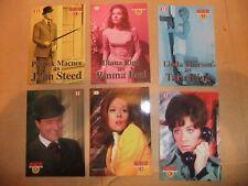 THE AVENGERS DIANA RIGG TV CORNERSTONE PROMO 6 CARD CHASE SET EMMA PEEL MacNEE