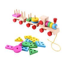 Shape Color Recognition Geometric Board Blocks Stack Sort Toys For Children