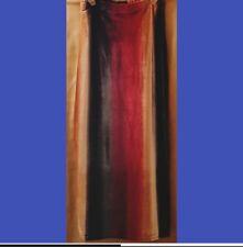 Long velvet skirt with multicolor vertical stripes, M but more like S