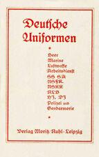 Deutschen Uniformen 1937, German Wehrmacht uniforms, insignia, 24 color plates