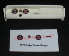 1971 DODGE DEMON GAUGE FACES for 1/25 scale MPC KITS