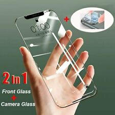 For iPhone 11 Pro Max 7 8 Plus Tempered Glass Screen Protector Camera +Lens Film