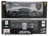 MAISTO TECH 1:24 LAMBORGHINI AVENTADOR LP700-4 RADIO CONTROLLED CAR DARK GREY