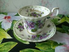 Royal Albert China Tea Cup & Saucer Flower of the Month February Violets