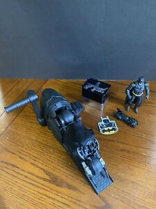 "Batman Toy Gift Lot Bat-cycle Launcher 6""Batman Action Figure Batman Watch+"
