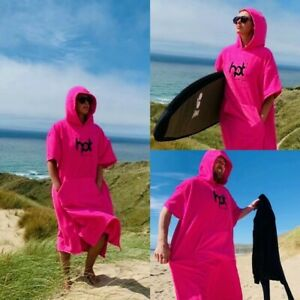 Hot Surf 69 Changing Robes Hooded Towel Changing Robes – Pink