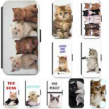 Cute Cat Animal Cats Kitten Funny Flip Case Phone Cover Samsung S5 S6 S7 S8