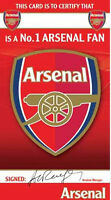 Arsenal Certificate Birthday Greeting Card - FREE 1ST CLASS POSTAGE (AS045)
