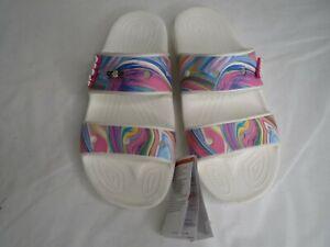 Crocs White Slide Slippers Unisex Mens Size 10 Women Size 12