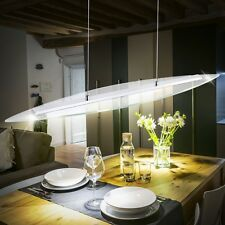 20 Watt LED Chrom DESIGN Pendel Leuchte Glas Esszimmer Loft Decken Hänge Lampe