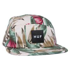 Huf WAIKIKI BOX LOGO VOLLEY Tan Tropical Print 5 Panel Cap Adjustable Men's Hat