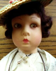 """FRENCH Antique 13"""" Doll Made in France Original Clothes"""