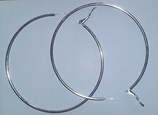 Jumbo Stainless Steel Hoop Earrings Polish Finish Snap Hinge Closure 70mm !!