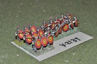15mm roman era / late roman - legionaries 21 figures - inf (42139)