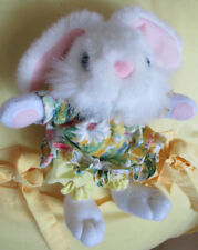 "Animal Adventure"" Easter Basket Size Bunny Rabbit Super Soft 6"" Sitting in Dress"