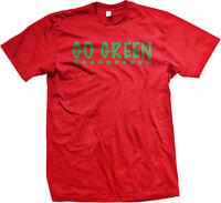 Go Green Marijuana Leaves Pot Weed Legalize Drugs Stoner Mens T-shirt