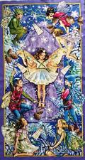 ENCHANTED FLOWER FAIRIES MICHAEL MILLER COTTON FABRIC QUILT / WALLHANGING PANEL