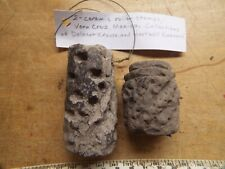 2-Rare Pre Columbian 500Ad To 1500Ad Ceramic Roller Stamps