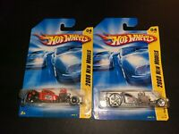 HOT WHEELS 2008 NEW MODELS #4 RATBOMB SILVER AND RED LOT OF 2
