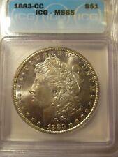 1883-CC MORGAN SILVER DOLLAR ICG MS65