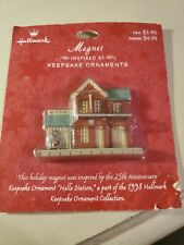 Hallmark Magnet Halls Station Nostalgic Houses series in original package
