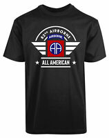 US Army 82nd Airborne Division New Men's Shirt All Americans Military Armed Tee