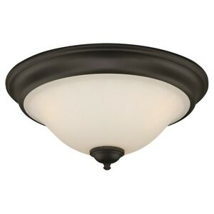 Vaxcel Belleville 3L Ceiling Light, Oil Rubbed Bronze, Etched White - C0101