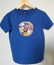 Vtg 80s Fraggle Rock kids M adult XS Blue T Shirt Jim Henson Muppets glitter