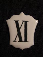 ANCIEN CHIFFRE CARTOUCHE ÉMAILLÉE XI,11 CARILLON PENDULE HORLOGE COMTOISE CLOCK