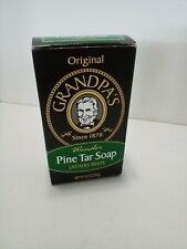 Grandpa's Pine Tar Bar Soap  4.25 Oz for body hair face  no animal by-products