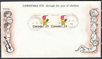 Canada SCARCE IDENTICAL PAIR Signed Bileski FDC Scott #519 5c Santa Claus **
