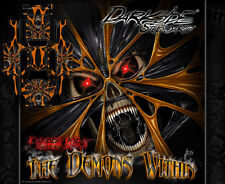 """TRAXXAS X-MAXX GRAPHICS WRAP DECALS """"THE DEMONS WITHIN"""" ORANGE CARBON EDITION"""