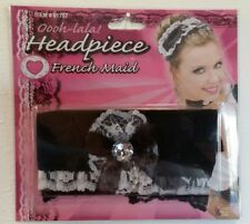 Maid Head Piece Costume Accessory with Gem Adult or Child