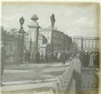 BELGIQUE Bruxelles Funérailles Reine Astrid 1935, Photo Stereo Plaque verre n10