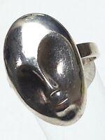 Vintage Silber Ring 80er Jahre ALIEN 925 Sterling Silber RG 60/19,1mm / A 441