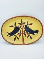 Wisconsin Pottery Designed Exclusive for K&K Interior Inc Red Clay Bird Motif