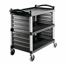 More details for cambro single shelf panel set in black polypropylene - 298 x 803 x 450 mm