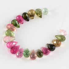 Old Mine Brazil Tourmaline Faceted Full Teardrop Beads (21)