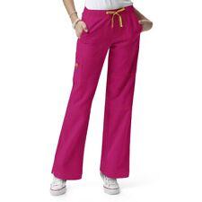 Wonderwink Four Way Stretch Cargo Scrub Pants Bottoms Plus Sz 2X Fuchsia Pink