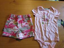John Deere Pink Camouflage baby girls outfit, new, free shipping !
