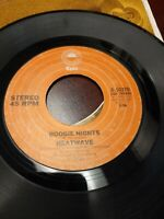 45 Record Heatwave Boogie Nights/All You Do is Dial  VG Disco Soul