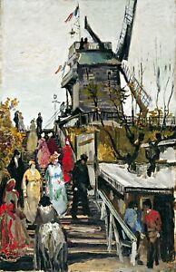 Le Moulin de blute by Vincent van Gogh. Dutch  Canvas Life Art.   11x17 Print