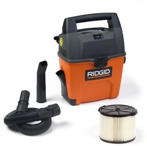 RIDGID Portable Wet Dry Vacuum 120-Volt Corded Cartridge Filter Hose 3-Gal.